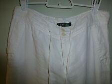 RALPH LAUREN women white linen pants (orig. $120.00)
