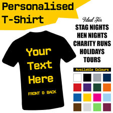 Personalised Custom Printed T-Shirts Men Women Unisex Tee T Shirt Stag Hen Party