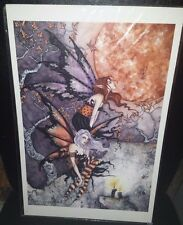 AMY BROWN Fantasy Fairy Art Matted Print Poster NIGHTFLYERS