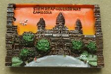Angkor Wat, Cambodia, Tourist Travel Souvenir 3D Resin Fridge Magnet