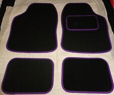 Purple and Black Car Mats trim for PEUGEOT 106 107 206 207 307 308 407