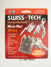 Genuine SWISS+TECH Micro-Max® 19-in-1 Keychain tool Multi Tool Plier, ST53100