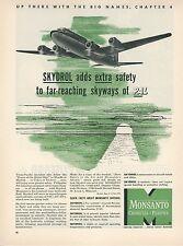 1951 Monsanto Skydrol Ad Philippine Air Lines PAL Douglas DC-6B Aviation Airline
