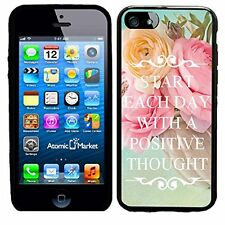 Start Each Day With A Positive Thought Vase Of Flowers For Iphone 6 Case Cover B