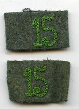 Original Wehrmacht Paar Schulterstück Überschübe für Panzergrenadier 15 3. Reich