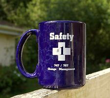 """Boeing Coffee Mug Safety #1 747 / 767 Change Management Cross 4 1/2"""" Tall Cup"""