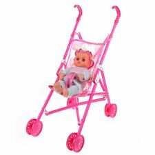 Dolls Buggy Stroller Pushchair Pram Foldable Toy Doll Pram Baby Doll BT A5A0
