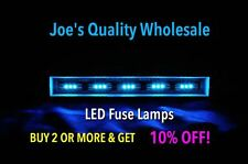 (100) BLUE 3X LED FUSE LAMPS 8V-STEREO/AUDIO/SX-626 939/AMPLIFIER/2230 2275 2285