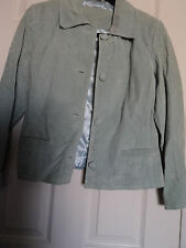 Jacqueline Ferrar light Blue Suede Jacket  size petite medium  NWOT