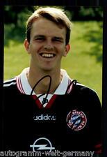 Dietmar Hamann Super AK Foto Bayern München 1997-98 (3) Orig. Signiert