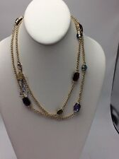 "Anne Klein ""Color Burst"" Gold-Tone Multi-Strand Necklace, 42"" $38 #166"