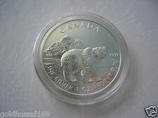 CANADA 2011 GRIZZLY BEAR WILDLIFE SERIES 1 OZ SILVER COIN