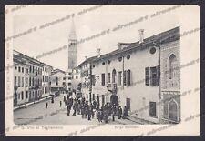 PORDENONE SAN VITO TAGLIAMENTO 21 BORGO BELVEDERE - ALBERGO SCALA Cartolina 1900