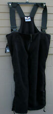 Polartec 200 black fleece Overalls, size Large Long, new w tag