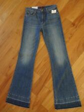 7 For All Mankind Tailorless Ginger Flare Jeans W/Released Hem BLB2 25 NWT