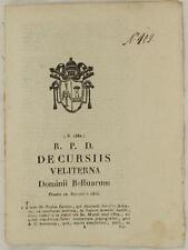 SENTENZA SACRA ROTA VELLETRI LAZIO PAOLO CENSI GIUSEPPE GALEAZZI CONTRATTO 1834