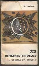 Luis Seoane Book 32 Refranes Criollos Grabados En Madera 1966