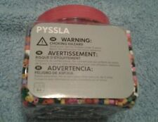 IKEA Pyssla Beads Assorted Colors Ages 4&Up Plastic Container w/ Lid NEW