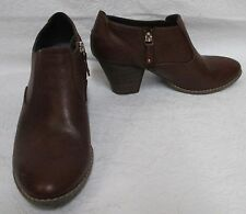 """Women's Dr. Scholl's """"Codi"""" Whiskey Brown Cool Fit Ankle Booties Sz 10 M"""