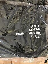 "Antisocial Social Club ASSC Black ""MIND GAMES"" Hoodie sz SMALL 100% Authentic"