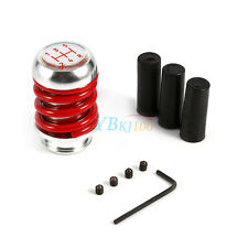 Red Spring 5 Speed Universal Manual Car Gear Shifter Stick Shift Knob Lever AP