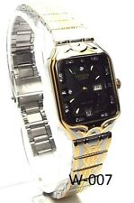 New Citizen Lady Two-tone, Black-dial- Square Dress Watch