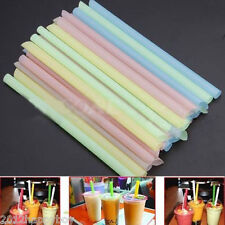 33Pcs Thick Drinking Straws Bubble Boba Pearl Tea Smoothie Party Drink Straw