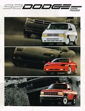1992 Dodge Brochure :DAYTONA,DYNASTY,SHADOW,SPIRIT,CARAVAN,RAM 150 Truck,DAKOTA,