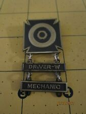 Great WWII Original U.S.Military Driver Qualification Badge STERLING SILVER