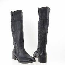 Lucky Brand Hibiscus Women's Shoes Black Leather Knee High Boots Size 10 M NEW!