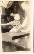 Baby Prodigy Kid Tickling The Ivories Playing Piano On Bench Vintage 1930s Photo