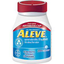 ALEVE Easy Open Arthritis Cap, 220mg Pain Reliever/Fever Reducer 200ct