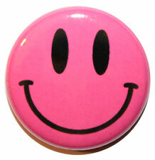 "1"" (25mm) Classic Smiley Face Button Badge Pin - MADE IN UK - High Quality"