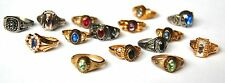 LOT OF 15 VINTAGE LADIES HIGH SCHOOL CLASS RINGS ARTCARVED NO IDEA WHAT METAL