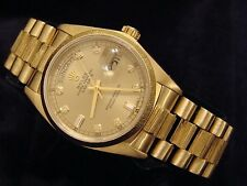 Rolex Solid 18KT 18k Yellow Gold Day Date President Bark Champagne Diamond 18078