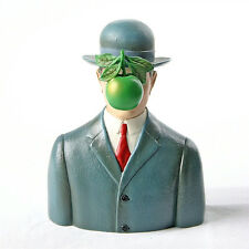 RENE MAGRITTE Bowler Hat Surrealist Dada Art Sculpture Statue Figure Figurine