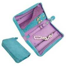 Jewelry Travel Case Box Zippered Faux Leather Clutch Reed & Barton  Pisa