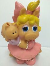 "• Vintage 1989 ""Miss Piggy"" Bank MUPPETS Collectible Doll Original!"