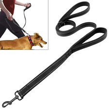 Reflective Nylon Dog Pet  Traffic Leash Leads with Soft Dual 2 Padded Handles
