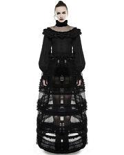 Punk Rave Pyon Bustle Skirt Crinoline Black Gothic Lolita Steampunk Victorian