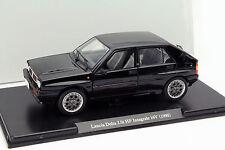 Lancia Delta 2.0i HF Integrale 16V Baujahr 1990 schwarz 1:24 Leo Models