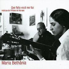 Que Falta Você Me Faz: Músicas de Vinicius de Moraes by Maria Bethânia (CD,...