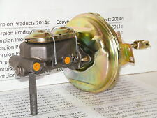 "GM Power Brake Booster Master Cylinder 1"" Bore Disc/Drum Chevelle Camaro Nova"
