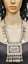 TRIBAL BOHO BANJARA KUCHI COINS RARE BELLY DANCE VINTAGE GYPSY NECKLACE