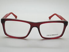 NEW Authentic Emporio Armani EA 3002 5075 Red 55mm RX Eyeglasses