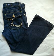 Rock & Republic Size 30 Bootcut Flap Pocket Dark Denim Blue Jeans
