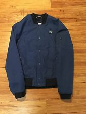 "MENS ""LACOSTE"" BLUE BUTTON DOWN BOMBER JACKET"