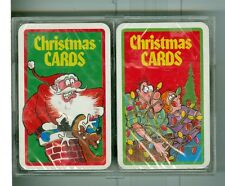 "Two Sealed Decks Playing Cards, ""CHRISTMAS CARDS"", Christmas Jokes on the faces"