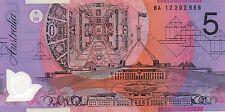 AUSTRALIA $5 Dollars FIRST PREFIX BA12 2012 Stevens/Parkinson P57g UNC Banknote