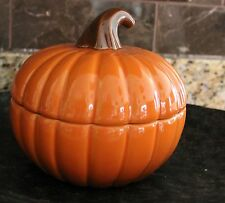 New! The Company Store Pumpkin Halloween/Thanksgiving  Covered Soup Bowls  16 oz